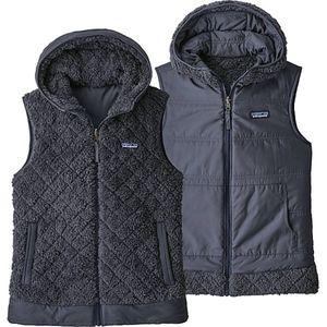 Patagonia Womens Los Gatos Reversible Vest L Gray